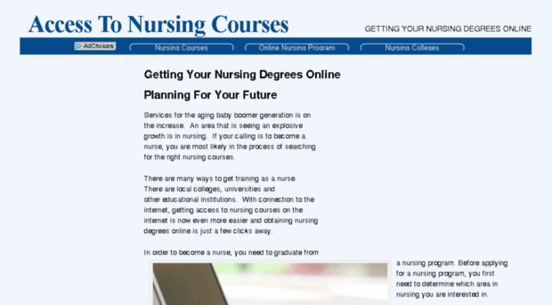 access to nursing coursework