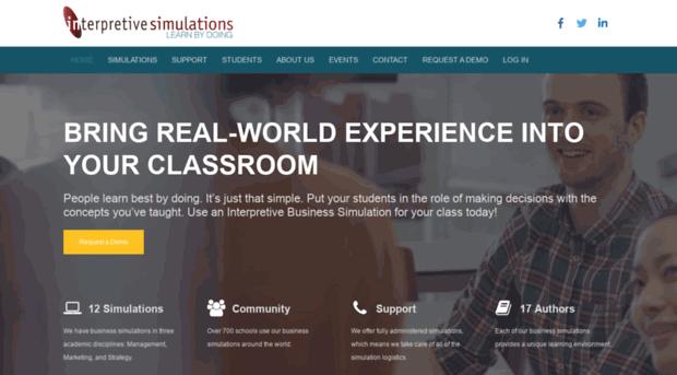 interpretive simulations airline