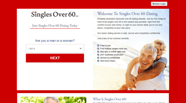 Free dating sites for 60 plus