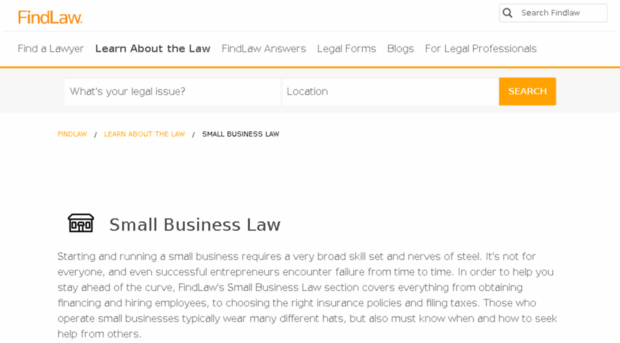 legal issues business law