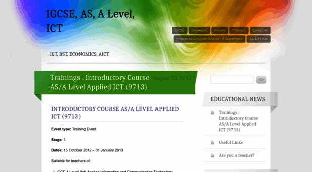 applied ict coursework level Iteachpk menu home a – level computer science – 9608 applied ict – 9713 computing 9691 administrator a - level, applied ict - 9713, computer science.