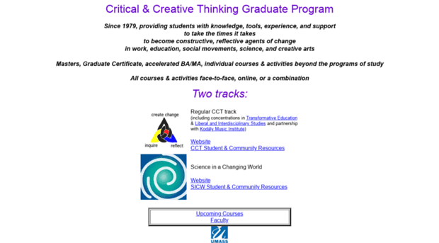 critical and creative thinking course description Critical thinking is the process of independently analyzing the ideal critical thinker is habitually generally increases the academic rigor of a course.