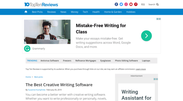 creative writing software reviews