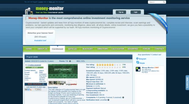 Advisorinvest.biz all hyip monitors