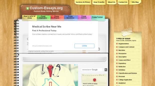 Custom essay writing org