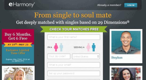 Dating website eharmony