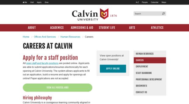 calvin college edu