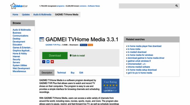 download driver tv home media 3 gadmei