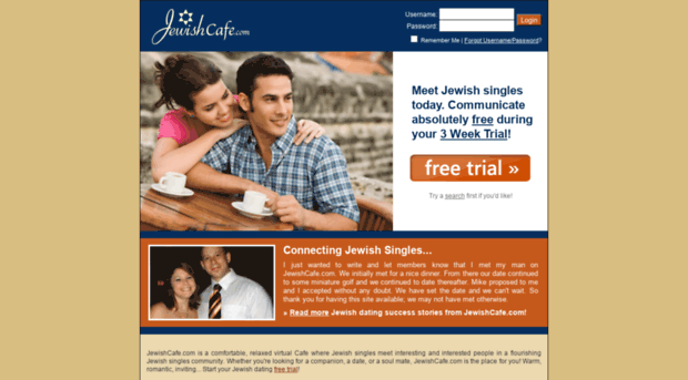 dating site jewish '#1 trusted dating site every day, an average of 438 singles marry a match they found on eharmony it's free to review your single, compatible matches.
