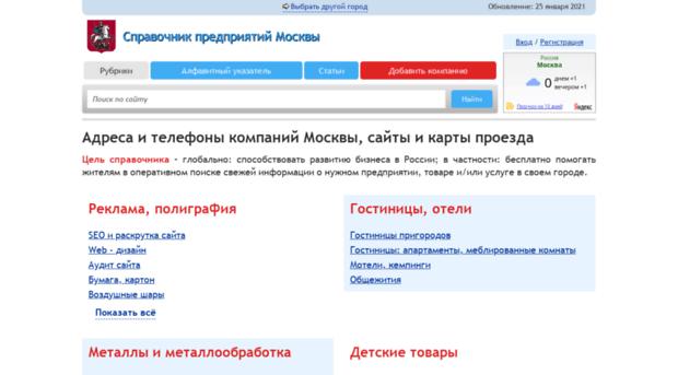 Московский Телефонный БизнесСправочник  адреса и