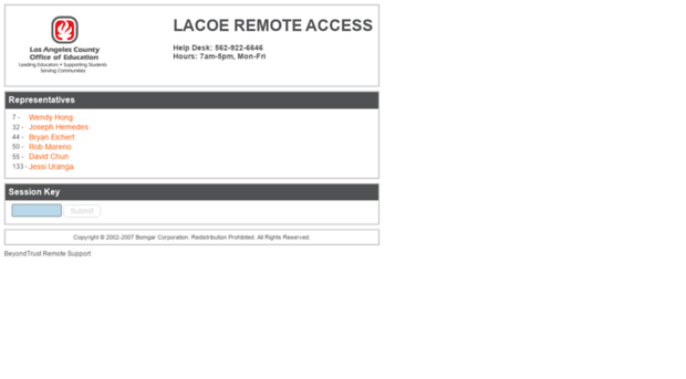 remote.lacoe.edu