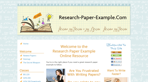 research paper exaples