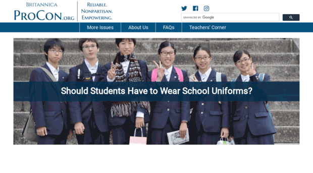 uniform should bwe bann Should we get rid of school uniform alistair brownlow: yes the perceived benefits of sartorial strictness are bogus co-principal, rochester independent school (ric) at ric students are free to wear whatever they like, as long as their clothing is not dangerous or offensive teachers, who are.