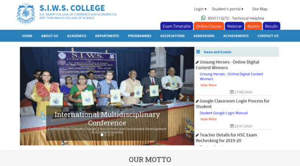 siws college wadala It is my pleasure to introduce to you mumbai college ofarts, commerce & science established in the year 2004, located at wadala (e) - mumbai the infrastructure is.