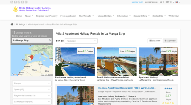 spainholidaylettings.co.uk