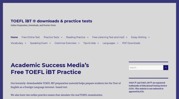 toefl practise essays Toefl practice test and preparation is the best way to prepare for the toefl exam +) over 100 toefl practice test and with over 1500 questions.