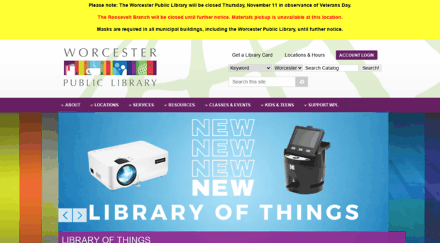 Worcester library loans