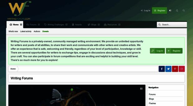creative writing forum uk
